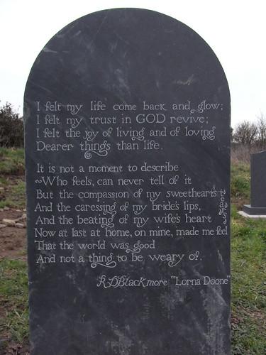 Reverse of Instow gravestone.