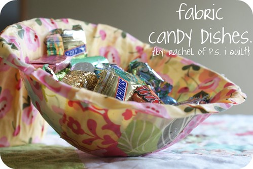 fabric candy dishes.