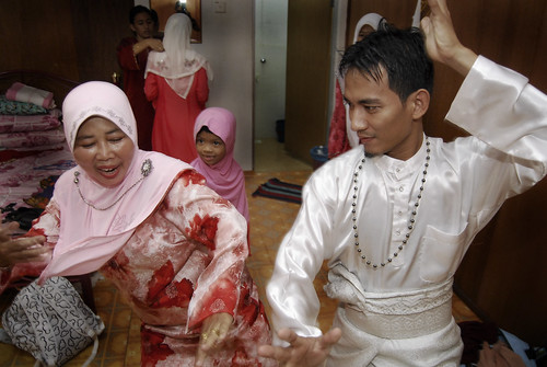 silat with my mom
