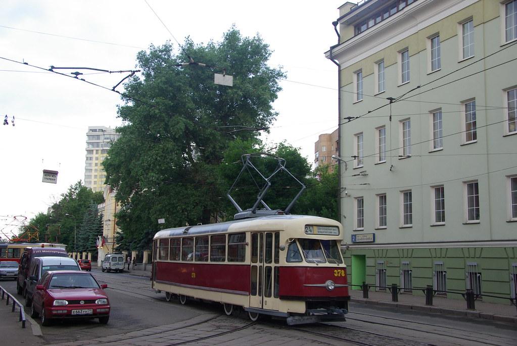 фото: Moscow tram Tatra T2 378  _20090613_054 Tatra T2