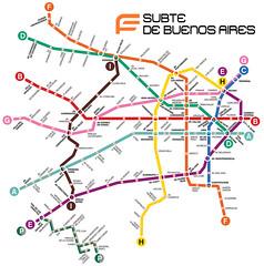 Red del subte de Buenos Aires como en Mexico DF (gac6479) Tags: de mexico df metro buenos aires