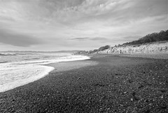Stinson Beach (wili_hybrid) Tags: ocean california sea sky blackandwhite bw usa beach water clouds march sand rocks unitedstates pacificocean coastline stinsonbeach hdr tonemapped