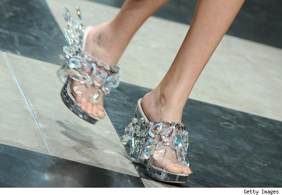 DIY chandellier heels by Prada