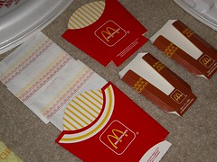 80's McDonald's Fry Bags/Boxes & Hash Brown Boxes (daniel85r) Tags: mcdonalds vintagepackaging