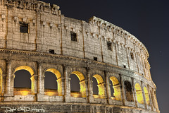 Roman Colosseum - Roma Italy (DiGitALGoLD) Tags: italy rome roma night digital gold nikon long exposure italia shot roman forum amphitheatre colosseum empire flavio nikkor colloseum f28 d3 gladiator colosseo anfiteatro 2470mm flavian