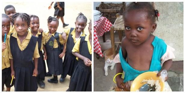 Los niños de Liberia