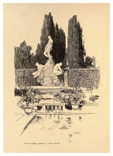 006- En los jardines Boboli- Palacio Pitti.-Florence  a sketch book (1914)- Richards Fred