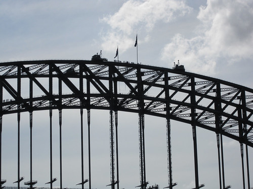 Sydney Harbour - Bridge walk as seen from the Manly Ferry