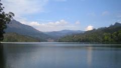 637. Munnar, the Paradise (Explored April 21, 2010) (profmpc) Tags: blue sky india lake water clouds dam kerala reservoir munnar kundala