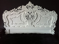 "4092 BAROQUE BED WHITE LACQUER • <a style=""font-size:0.8em;"" href=""http://www.flickr.com/photos/43749930@N04/5805710630/"" target=""_blank"">View on Flickr</a>"