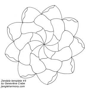 Mandala template #5
