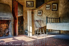 Fonthill Bedroom (www.ThruMarzenasLens.com) Tags: castle museum architecture floors artist pa tiles doylestown handcrafted walls fonthill zed decorated dreamhouse adorned mercermuseum henrymercer tileworks collction tilemaker moravianpottery wwwthrumarzenaslenscom 19081912 44rooms marzenagrabczynskalorenc 18fireplaces 200windows 32staircases handmixedconcrete