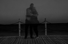 couple shadow cuddle monochrome (PDKImages) Tags: shadows ghosts love kiss beauty not there story looking memories waiting searching disappeared disappearing firstkiss lastkiss silhouettes hooded wishing monochrome sea coast waves blues blue lost palomarenaissance sky turkey