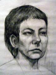 Charcoal Portrait Female Study (remifeb) Tags: portrait art female study charcoal remifeb