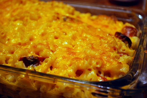 Mac and Cheese Hot Dog Casserole