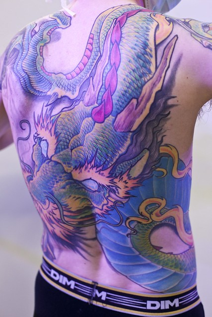 back body tattoo dragon