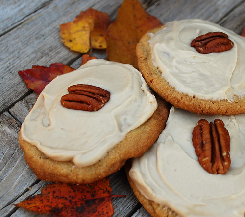 Maple Butter Pecan Cookies with Maple Frosting