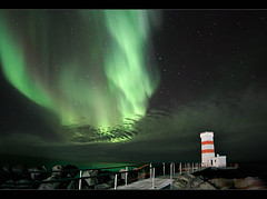 Autumn Aurora (orvaratli) Tags: travel cloud sun lighthouse night landscape iceland space astro arctic aurora solarwind reykjanes northernlights auroraborealis borealis icelandic viti solarstorm keflavk magneticstorm norurljs garskagaviti arcticphoto rvaratli orvaratli
