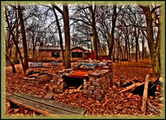 North Park Village Nature Center ~ HDR (C. Vizzone) Tags: wood blue trees windows roof chimney sky orange brown chicago brick nature leaves stone forest photoshop bench woods rust branches border grain angles stove bark tables furnace legacy hdr fieldhouse chicagoparkdistrict flickrsbest northparkvillagenaturecenter fineartphotos isawyoufirst top20autumn rubyphotographer passionateinspirations dragondaggerphoto daarklands npvnc flickrvault trolledproud newgoldenseal cpdnaturenativeflora
