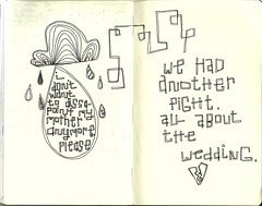 fight (ke_cupcake) Tags: wedding cloud white black moleskine rain pen ink notebook mom book sketch fight tears pages journal drawings thoughts list blank worry draw ideas raindrop drawingbook