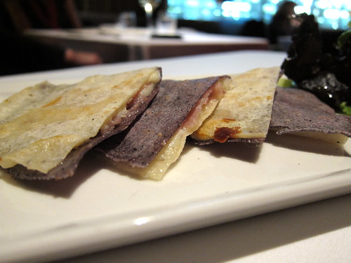 serra ham and idizabal cheese quesadilla
