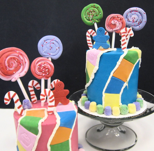 Whipt Cream Candy Birthday Cakes