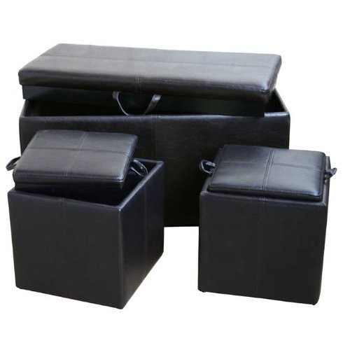 Double Bogo Ottoman with Storage Cubes