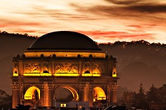 The Palace - San Francisco, California, USA (Rich Capture) Tags: sanfrancisco california sunset night clouds canon ball lights rooftops head swiss tripod richard dome palaceoffinearts lanscape gitzo arca f3545 ef100300mm canon50d richardmatyskiewicz matyskiewicz