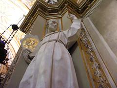Monastic statue (jere7my) Tags: italy church statue honeymoon catholic basilica monk christian heresy ravenna monastic emiliaromagna arian santapollinarenuovo basilicaofsantapollinarenuovo saintapollinare