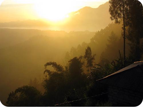 sunrise near Batur, Bali