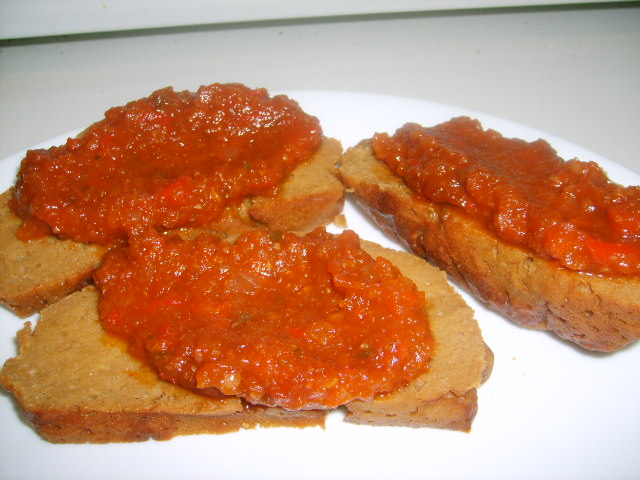 Baked Seitan with Barbecue Sauce2