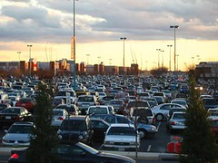 shopping center parking lot, suburban virginia (by: Mrs. Gemstone, creative commons license)