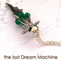Lost Dream Machine Pendant 3 (marcus design / contemporary jewelry) Tags: green agate key handmade antique victorian dream machine jewelry jewellery baroque jewels onyx steampunk sterlingsilver