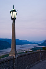 The Lantern's Watch (fotostevia) Tags: river dusk columbiarivergorge lampstand vistahouse pentaxfa352 pentaxk10d excellentscenic