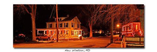Xmas lights, New Windsor, MD by gerwise.
