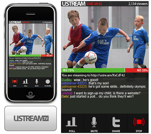 Ustream Releases iPhone App 1