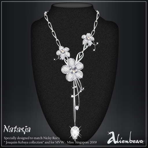 Natasja necklace white