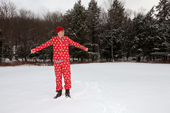 d-love (sgoralnick) Tags: winter snow ny farmhouse outside upstate upstateny derek newyears paulfrank pajamas partyhouse flannelpajamas matchingpajamas monkeyprint