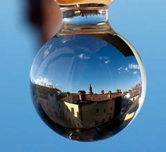 Atmo-sphere (Luciano Rizzello) Tags: italy reflection nikon crystal sphere reflexions opticaleffect cristallo riflesso sfera d90 settimomilanese effettoottico nikonflickraward grouptripod nikonflickrawardgold mtrtrophyshot sambukot virgiliocompany