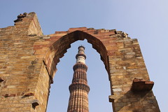 Qutb Minar through Arch, Delhi (ChrisGoldNY) Tags: india tower architecture buildings ancient asia forsale delhi muslim albumcover bookcover islamic 5photosaday challengewinners challengegamewinner friendlychallenges friendlychallenge thechallengefactory chrisgoldny chrisgoldberg chrisgold chrisgoldphoto chrisgoldphotos