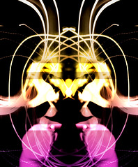 distorted figure 9 (harry_oelmann) Tags: blue light red orange white distortion motion black colour green art face shirt contrast photoshop spiral movement long exposure moments glow photographer hand purple image affection reaching body expression no creative shaddow symmetry topless passion swirl form ruby highlight 2009 progression gripping 2010 gestures hight grabing asstract harryoelmann