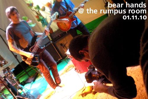 Bear Hands at the Rumpus Room, January 11, 2010