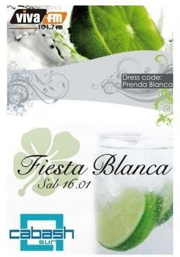 Fiesta Blanca - Discoteca Cabash Sur