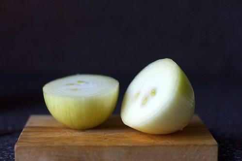 onion, halved