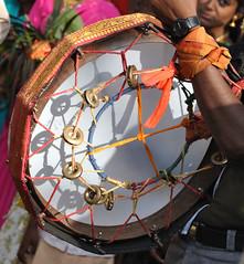 Drumming! (fameleaf is snoozing) Tags: festival rural drums village farmers bangalore karnataka pongal sankranti villagers