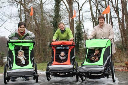 Zigo Leader Carrier Bike jogger trailer stroller in Belgium