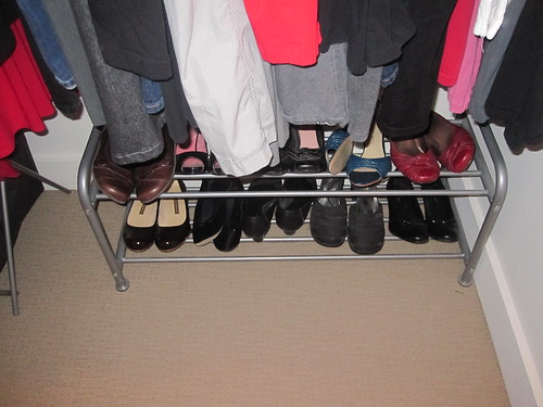 Shoe rack... not in love with it