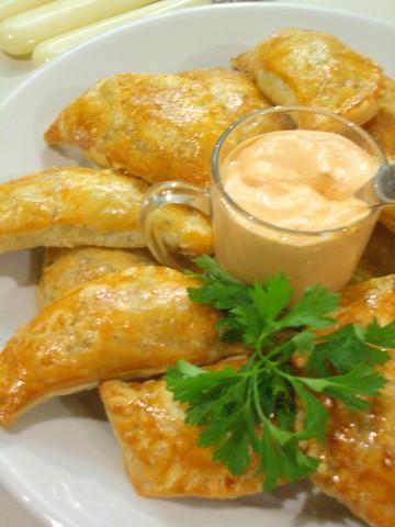 Savory Butternut Squash Turnovers with Cinnamon-Harissa Crčme Fraîche Recipe