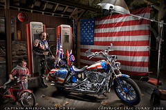 CAPTAIN AMERICA And 3-D BOY (Eric Curry) Tags: nightphotography light bicycle modern night dinner vintage painting photography 3d chopper with flag diner pride gasstation harleydavidson paintingwithlight motorcycle jerome nightphoto unusual littleboy captainamerica trickphotography normanrockwell bikers strobe hogs gastanks choppers paintwithlight longexposures cocacolasign commercialphotography multiexposures therockstore industrialphotography digitalcameraclub weldingtechniquetimeexposures unusualvintagepridenightphotographynormanrockwellpaintingpaintingwithlightschwinpaintwithlighpaintwithlightnightmultipleexposuresmultipleexposuremodernmenmasculineguyshandmadeindustriallightlightpaintinglongexposuresfabricationexposu