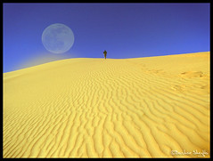 At the Edge of the World ! (Bashar Shglila) Tags: world moon sahara photography wolf gallery desert photos top best most fantasy edge worlds popular libya 2012 2010 libyen lbia at libi libiya liviya libija      lbija  lby libja lbya liiba livi   wolfmoon2010